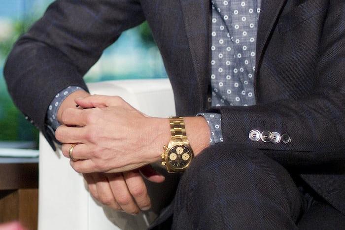 Ellen Degeneres wearing a gold Rolex Daytona reference 6265