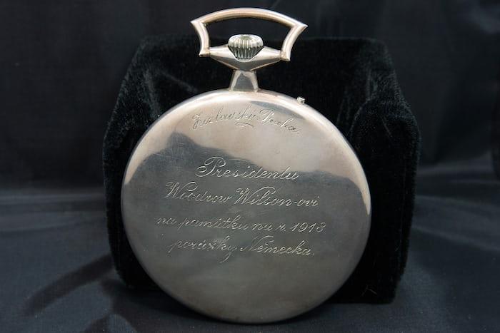 woodrow wilson worldtime watch inscription