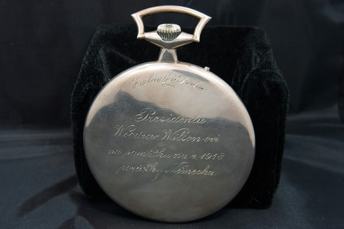 woodrow wilson worldtime watch inscription