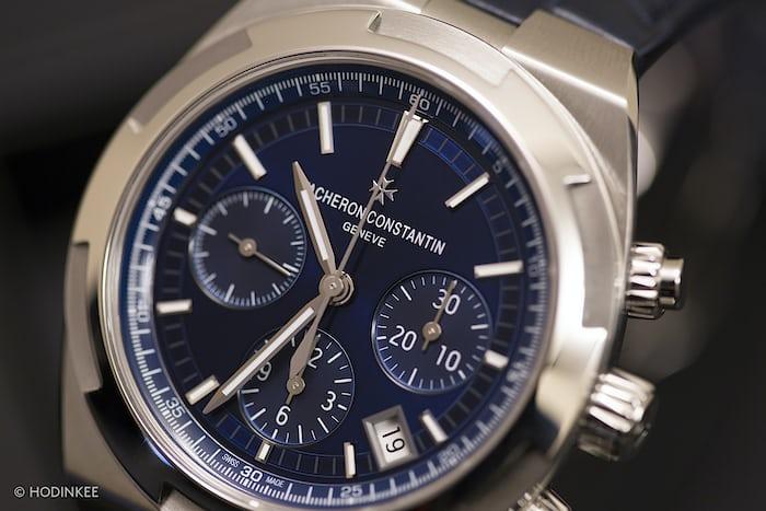 Vacheron Constantin Overseas Chronograph 2016 dial date guichet