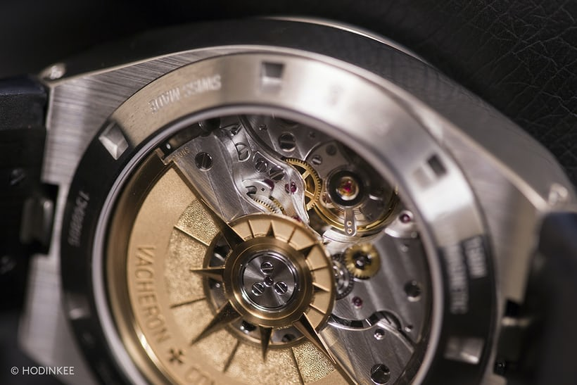 Vacheron Constantin Overseas Chronograph 2016 movement closeup