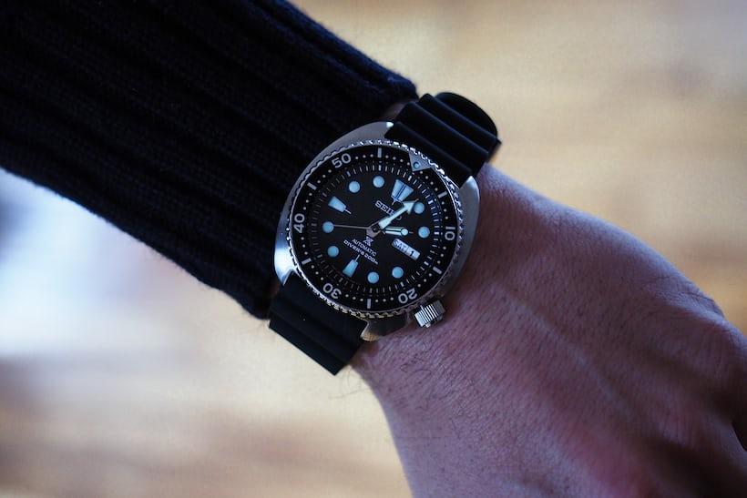 Seiko SRP777 wrist shot, dial