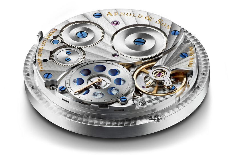 The Arnold & Son HM Double Hemisphere Perpetual Moon movement