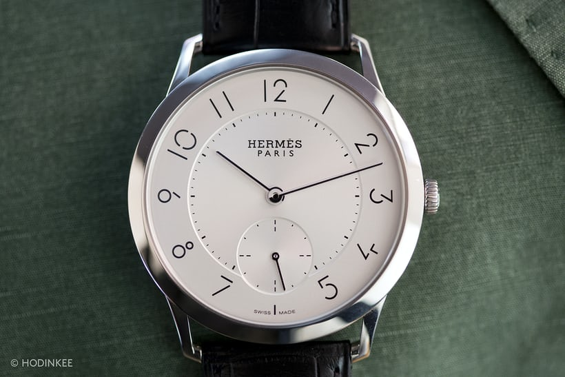 Hermes Slim dial full view