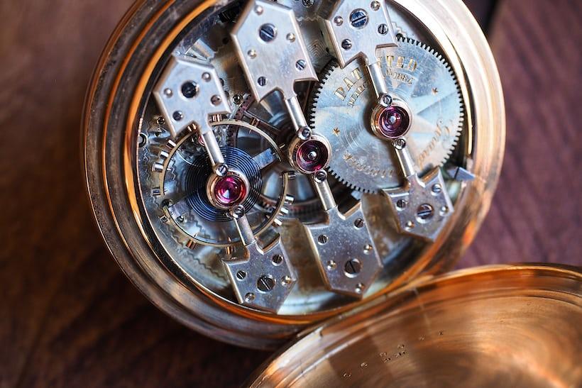 Girard-Perregaux 1890 pocket watch movement closeup