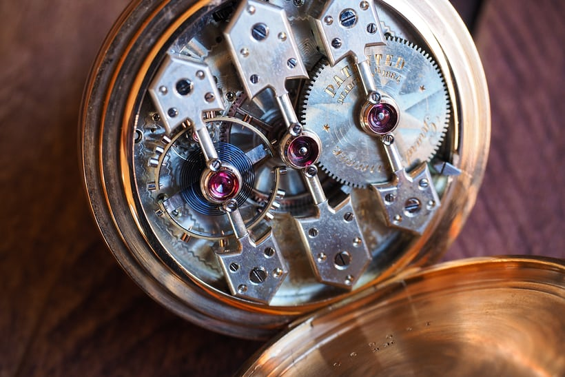 Girard-Perregaux 1890 pocket watch movement closeup