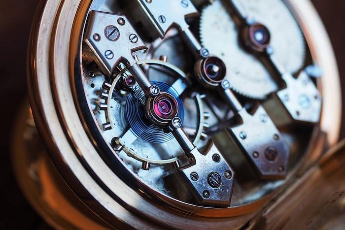 Girard-Perregaux pocket watch 1890 balance
