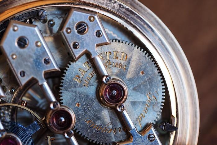 Girard-Perregaux pocket watch 1890 mainspring barrel