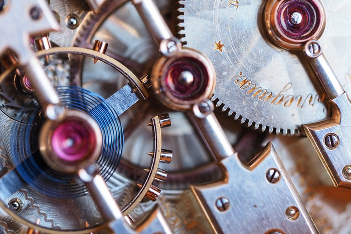 Girard-Perregaux pocket watch 1890 center wheel