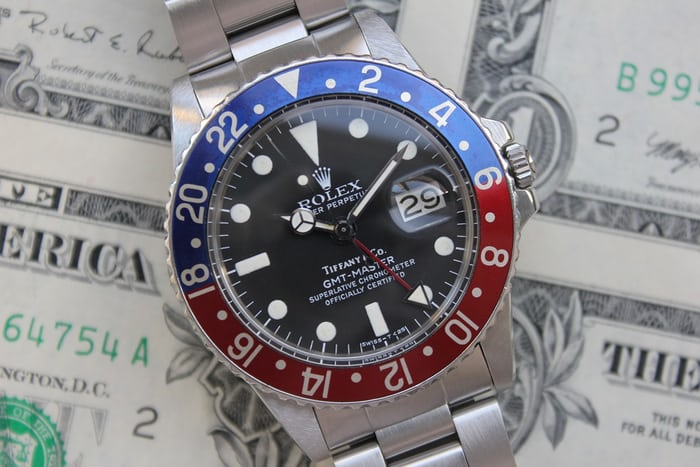Rolex GMT Reference 1675, With Tiffany Dial