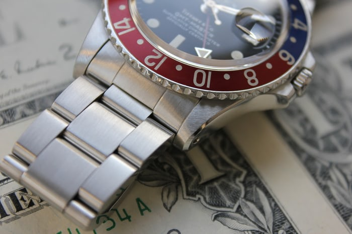 Rolex GMT Reference 1675 chamfer