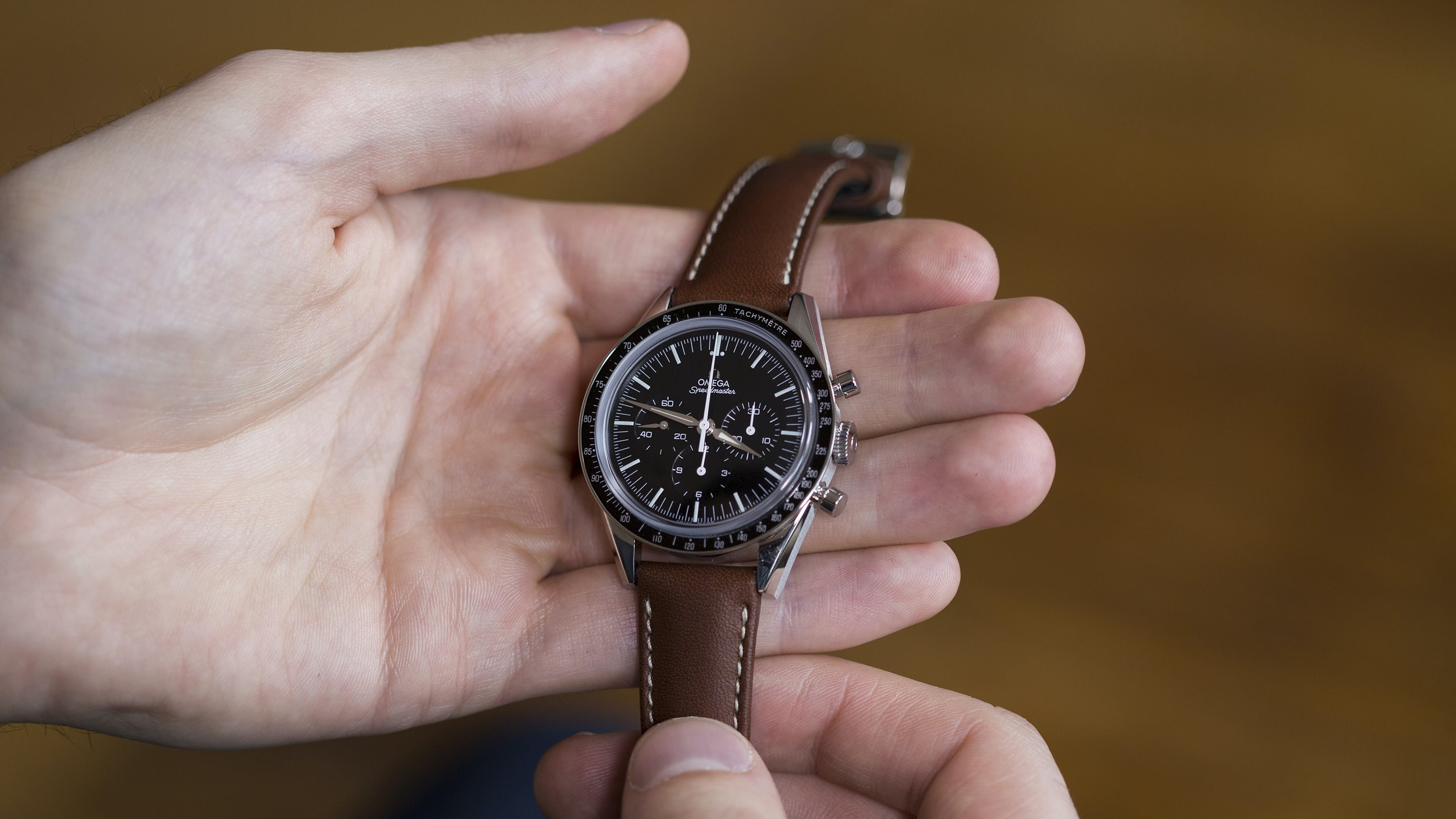 A Week On The Wrist Omega Speedmaster First In Space Zenith Rought Out Brown White Sole Hodinkee