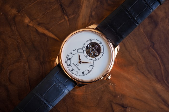Jaquet Droz Grande Seconde Tourbillon Ivory Enamel dial side