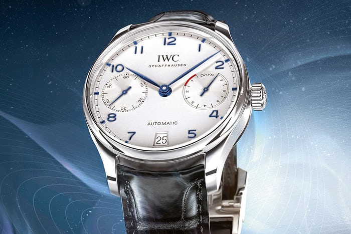 Dev Patel: IWC Portugieser Automatic (Stainless Steel With White Dial)