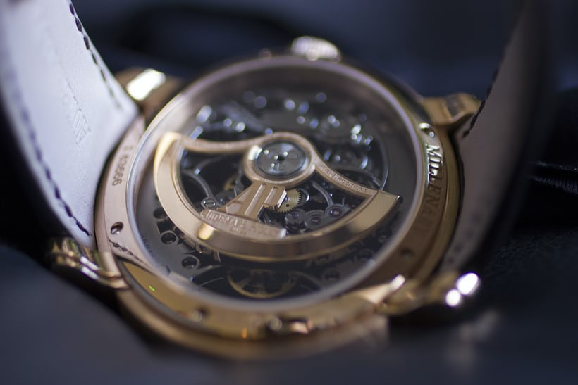Millenary Openworked movement, rotor highlighted