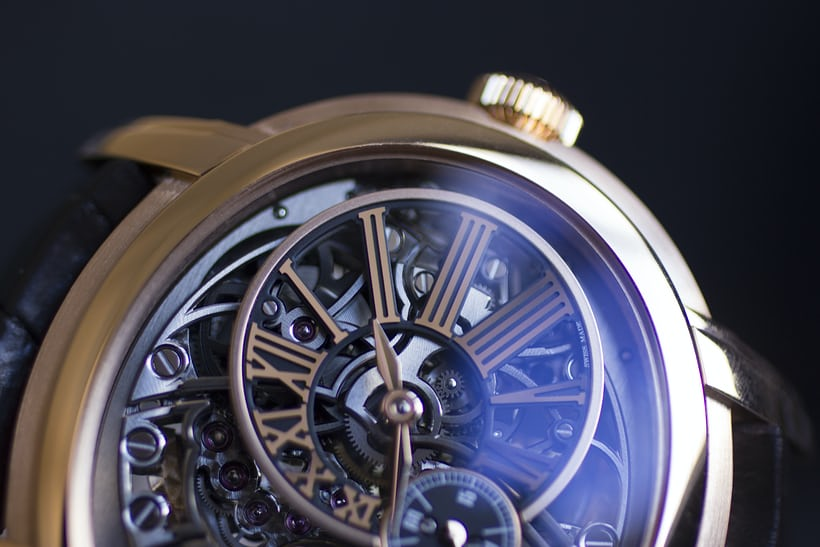 Millenary Openworked dial closeup