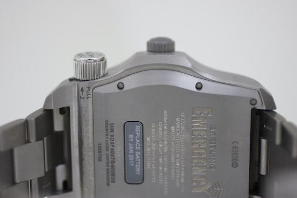 The Breitling Emergency caseback closeup Hands-On: The Breitling Emergency, Or The Safest We've Ever Been With A Watch Hands-On: The Breitling Emergency, Or The Safest We've Ever Been With A Watch IMG 7988
