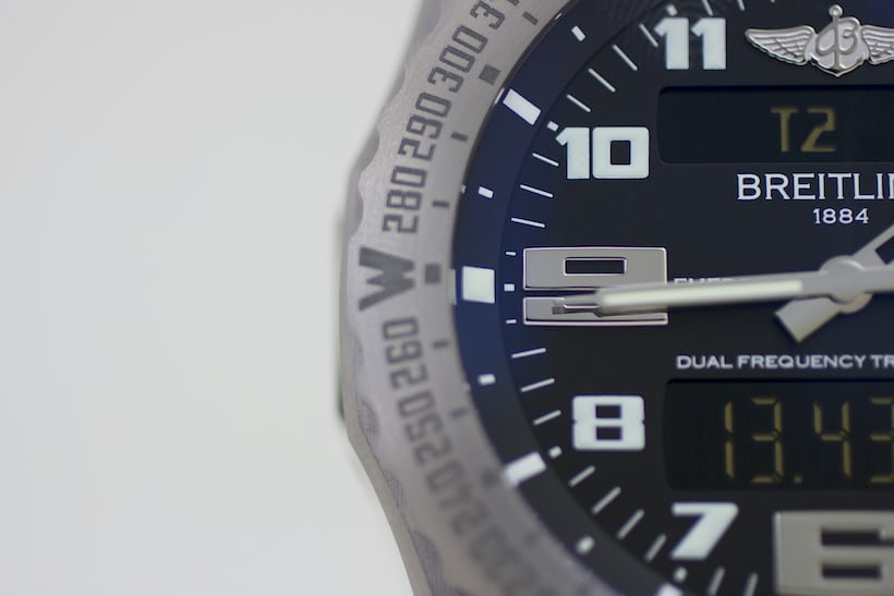 The Breitling Emergency dial left