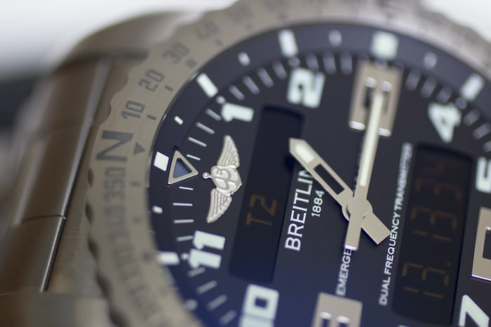 The Breitling Emergency hands
