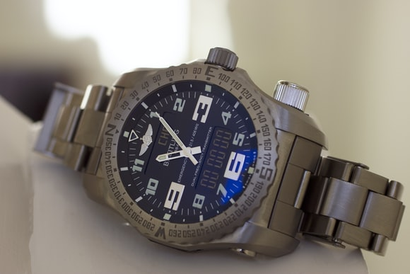 The Breitling Emergency dial closeup Hands-On: The Breitling Emergency, Or The Safest We've Ever Been With A Watch Hands-On: The Breitling Emergency, Or The Safest We've Ever Been With A Watch Face