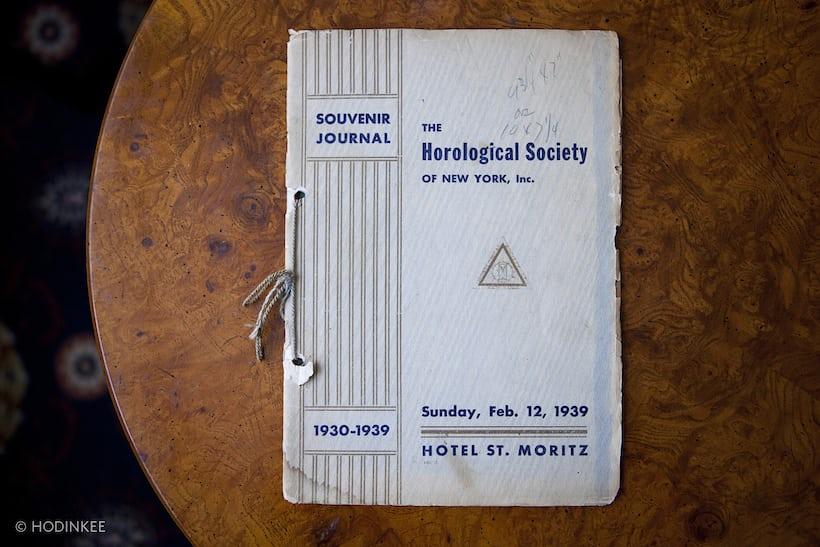 The Program for HSNY's 1939 Annual Dinner