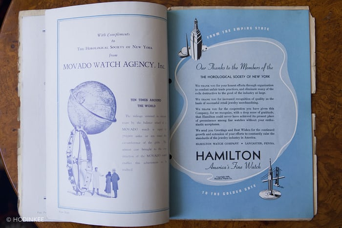 Pages From the Program for HSNY's 1939 Annual Dinner