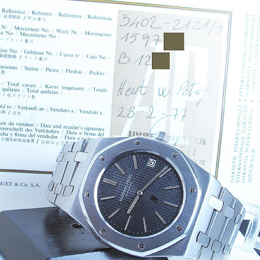 Audemars Piguet Royal Oak Reference 5402 Serie B Bring a Loupe: A Rolex With Tiffany Dial, A B-Series Royal Oak With Original Papers, An Early Zenith El Primero, And Many Others Bring a Loupe: A Rolex With Tiffany Dial, A B-Series Royal Oak With Original Papers, An Early Zenith El Primero, And Many Others AP RO
