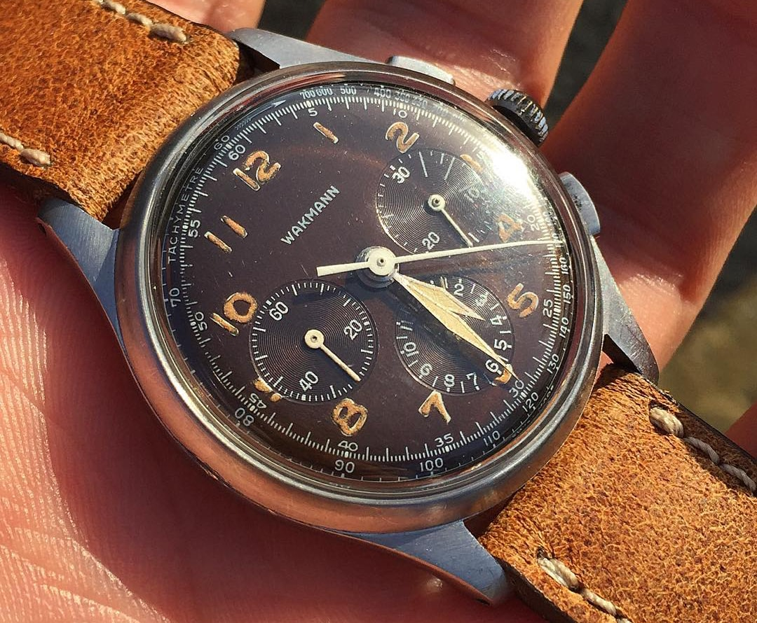 Tropical Wakmann chronograph Bring a Loupe: A Rolex With Tiffany Dial, A B-Series Royal Oak With Original Papers, An Early Zenith El Primero, And Many Others Bring a Loupe: A Rolex With Tiffany Dial, A B-Series Royal Oak With Original Papers, An Early Zenith El Primero, And Many Others 5