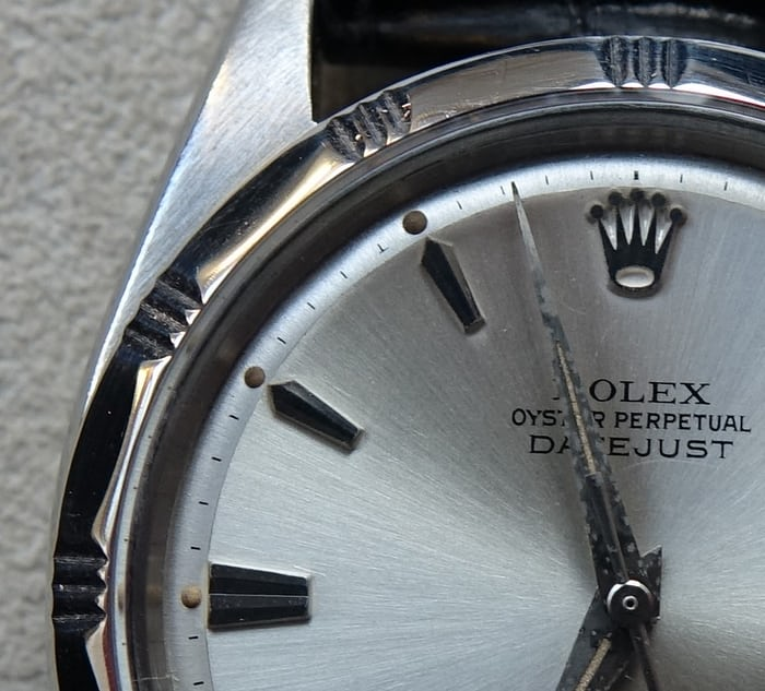 Rolex Datejust Reference 1603 dial detail