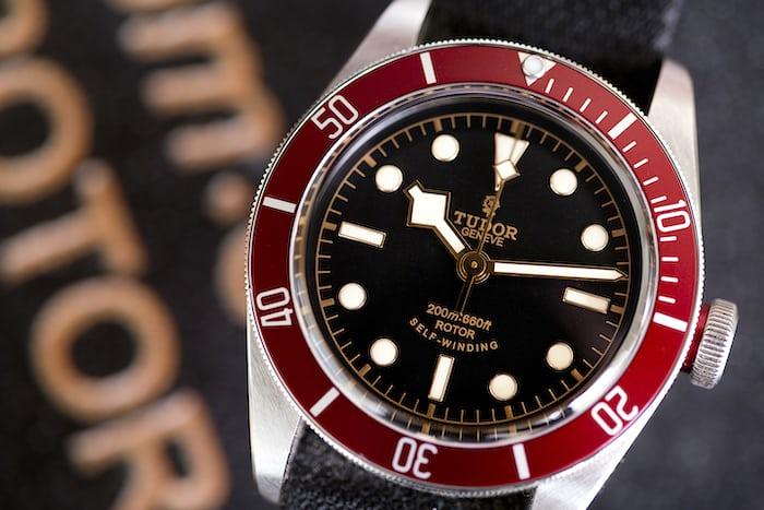 tudor black bay red bezel