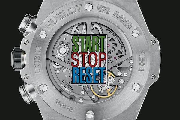 Hublot Start Stop Reset