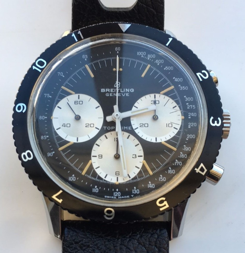 Breitling Top Time Reference 7656 Bring a Loupe: Vintage Chronographs And Dive Watches From Universal Geneve, Breitling, Lip, And Others Bring a Loupe: Vintage Chronographs And Dive Watches From Universal Geneve, Breitling, Lip, And Others TopTime
