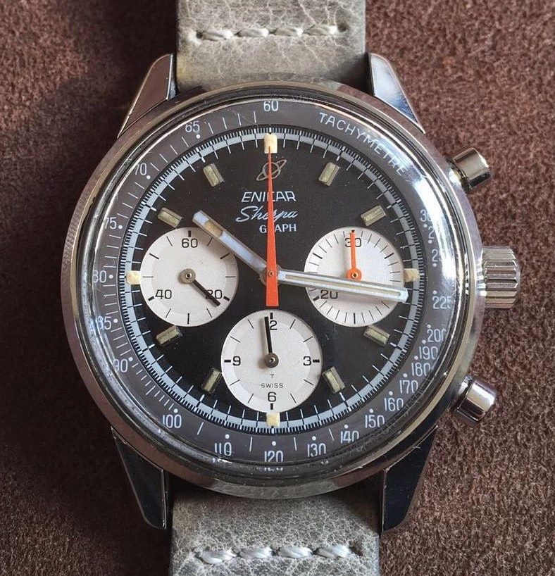 Enicar Sherpa-Graph Bring a Loupe: Vintage Chronographs And Dive Watches From Universal Geneve, Breitling, Lip, And Others Bring a Loupe: Vintage Chronographs And Dive Watches From Universal Geneve, Breitling, Lip, And Others Sherpa
