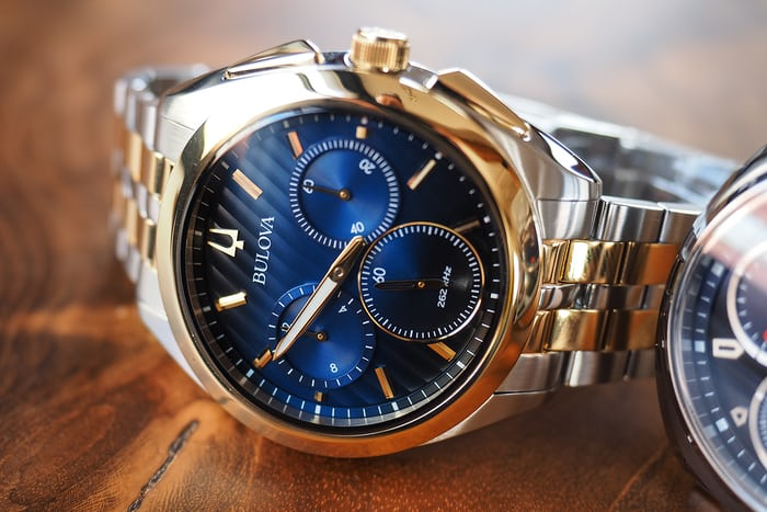 bulova curv blue and gold