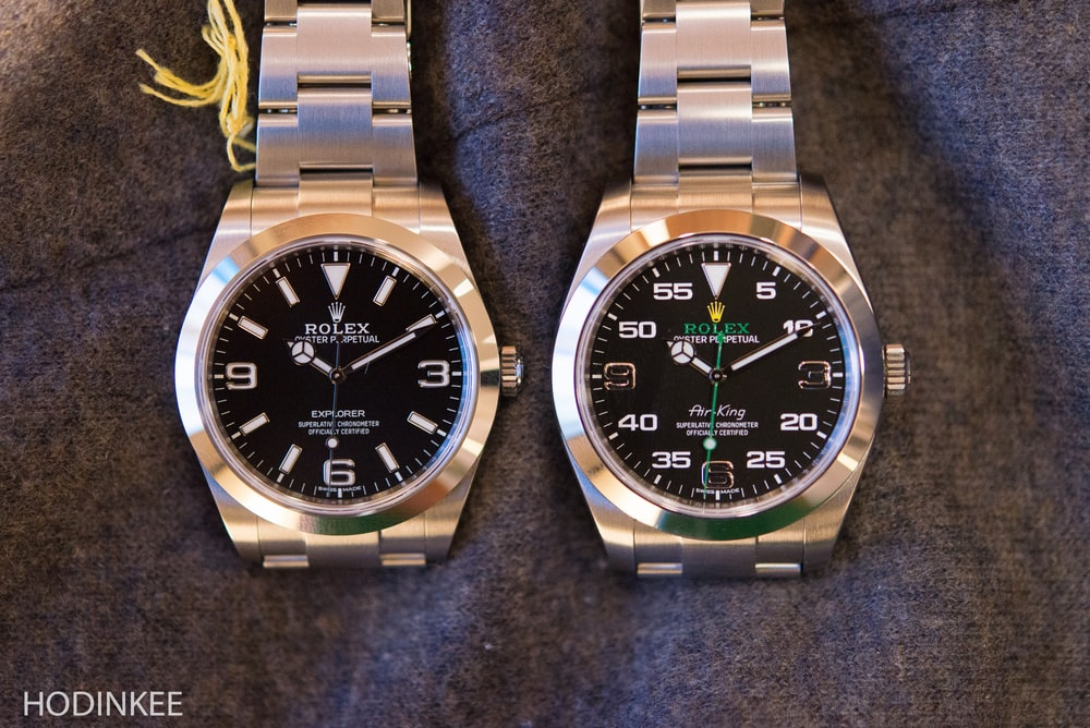 Hands on some quick thoughts on the new rolex air king versus the new explorer live pics for Rolex air king