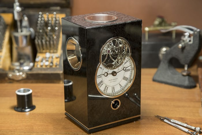 Anton Sukhanov's entry this year was a table clock with a triple axis tourbillon
