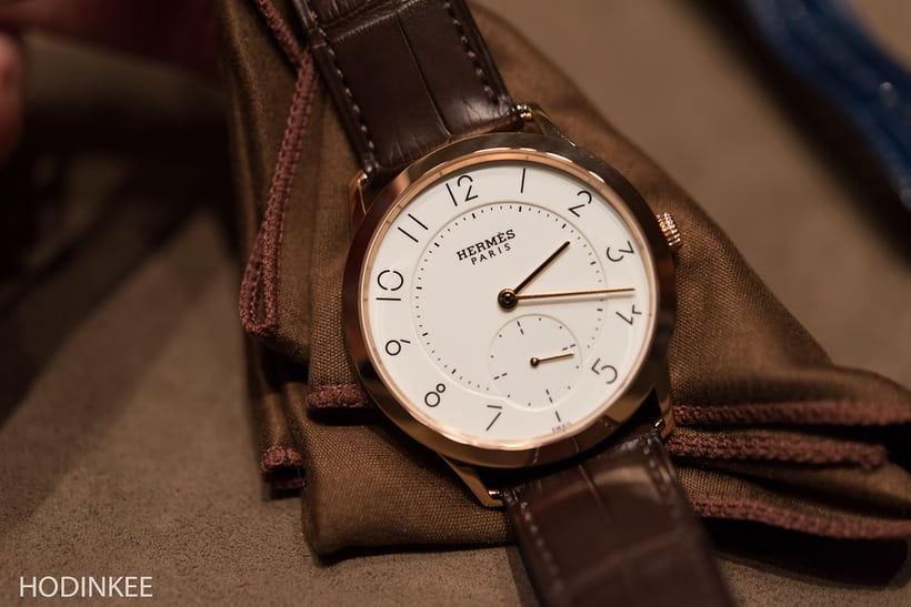 slim d'hermes with enamel dial