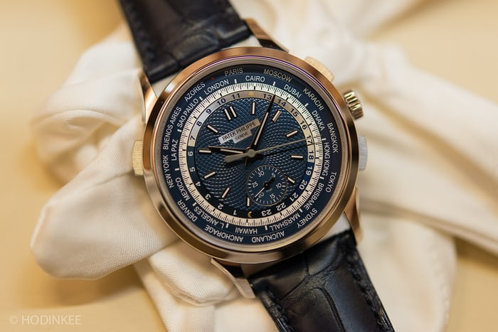 patek 5930 world time chronograph dial