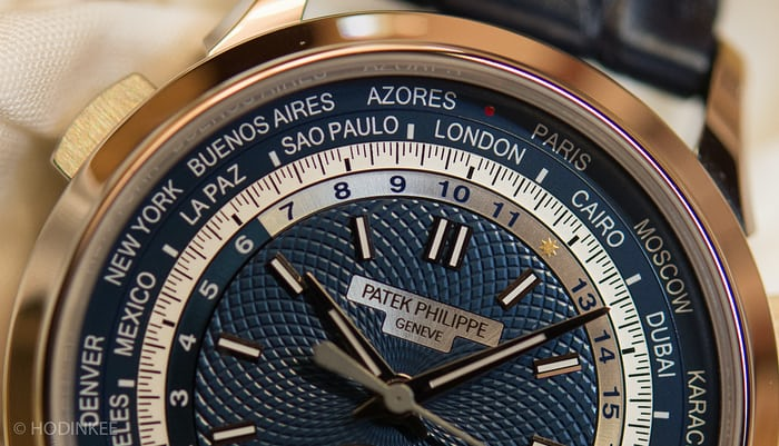patek 5930 world time chronograph dial closeup