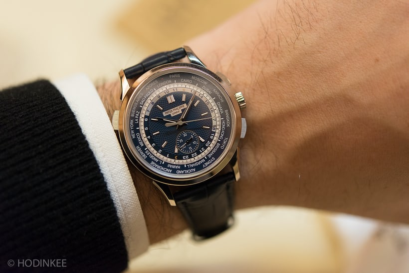 patek 5930 world time chronograph wristshot 2