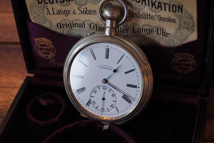 lange observation pocket watch dial