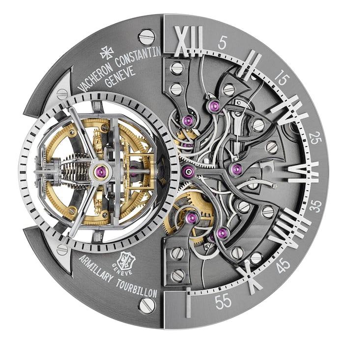 Vacheron Constantin Maître Cabinotier Retrograde Armillary Tourbillon dial side