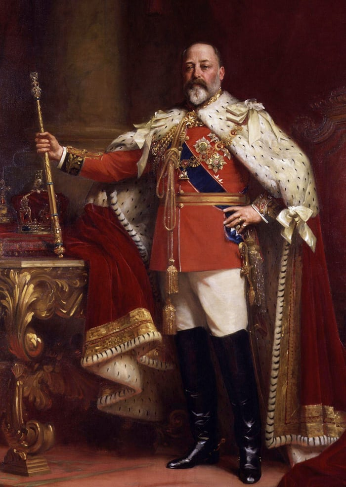 coronation robes edward vii