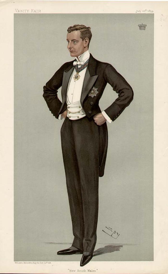 Gentleman in white tie, 1899, Vanity Fair