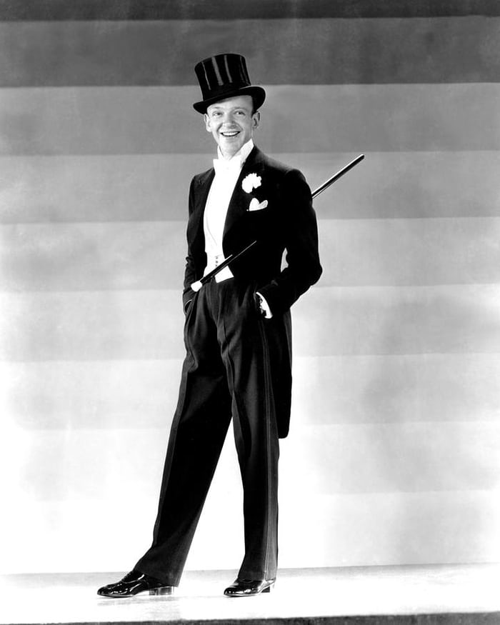 fred astaire in white tie, with wristwatch