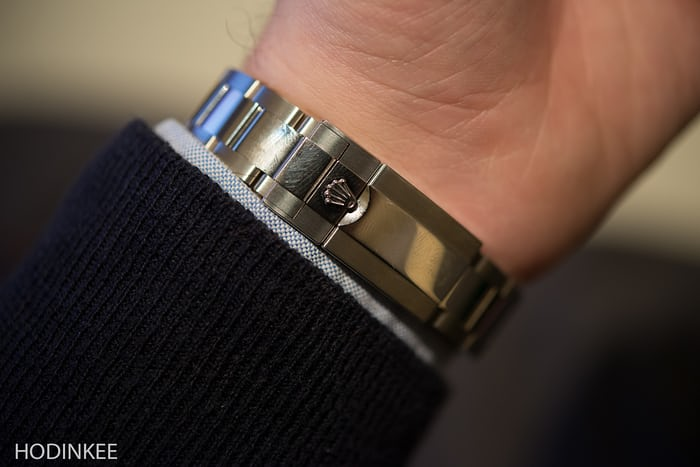 """Each Daytona clasp features an """"Easylink"""" rapid extension system, allowing the bracelet to expand 5 mm quickly."""