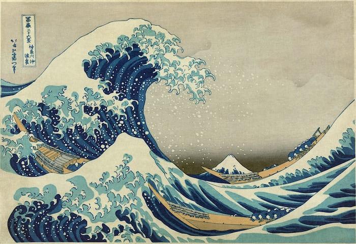 hokusai, the great wave off kanagawa