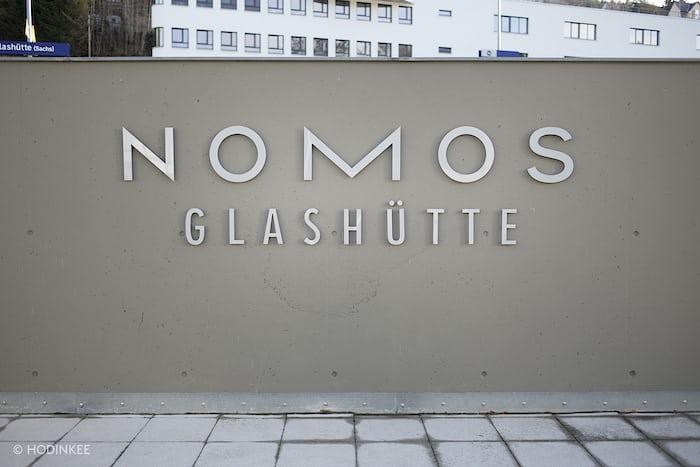 The entrance of NOMOS Glashütte
