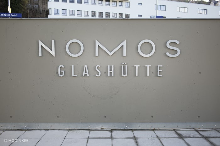 The entrance of NOMOS Glashütte