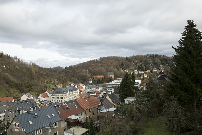 A view of Glashütte, located in East Germany